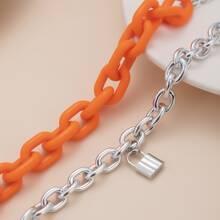 2 Stuecke Lock Charm Armband