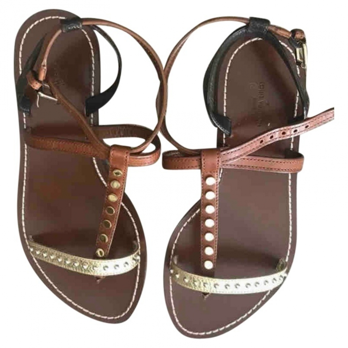 Louis Vuitton \N Brown Leather Sandals for Women 37 EU