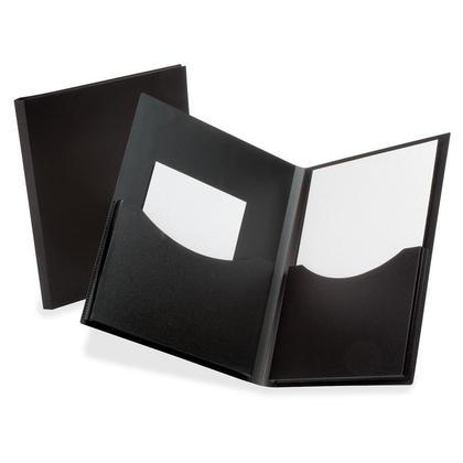 Oxford poly double stuff double folders pocket, lettre taille, 1 couvercle par paquet - noir