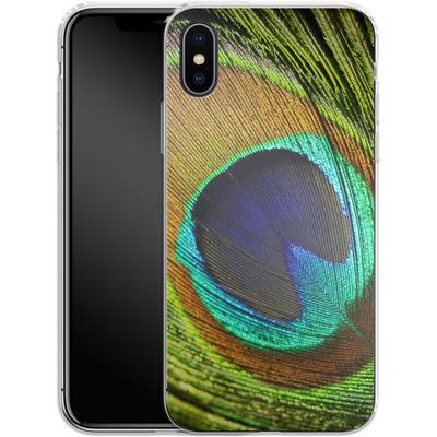 Apple iPhone X Silikon Handyhuelle - Peacock von Mark Ashkenazi