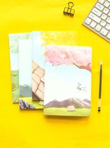 1pack Cartoon Graphic Cover Random Notebook
