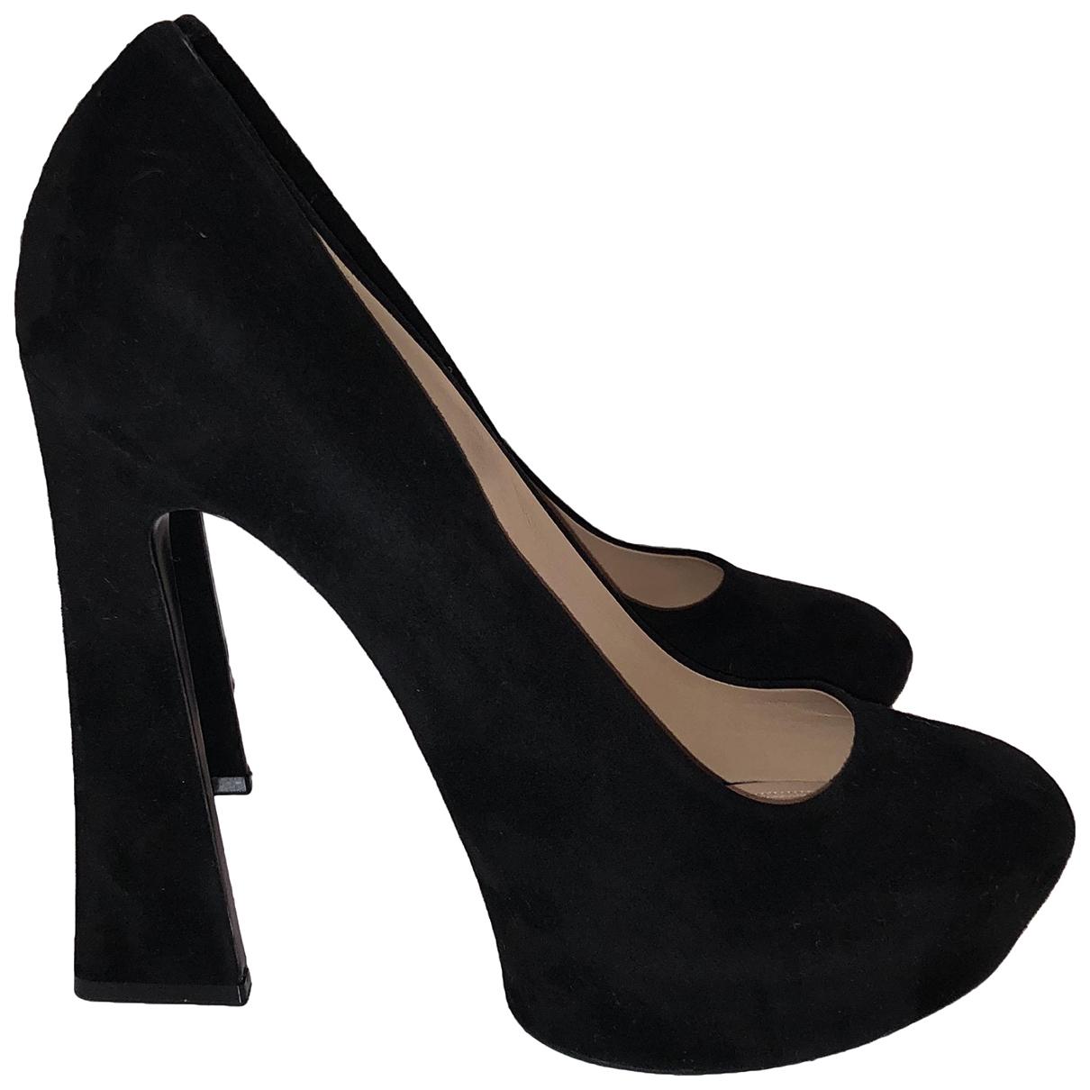 Celine - Escarpins   pour femme en suede - noir