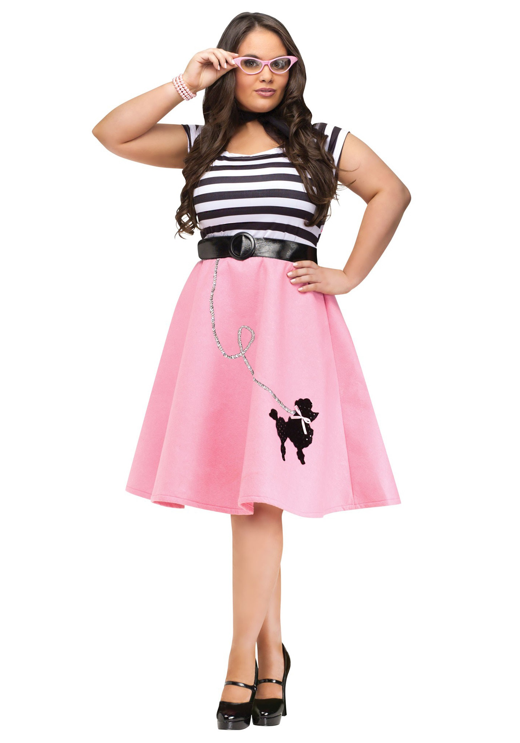 Poodle Skirt Dress Costume- Plus Size | Womens 50s Costume