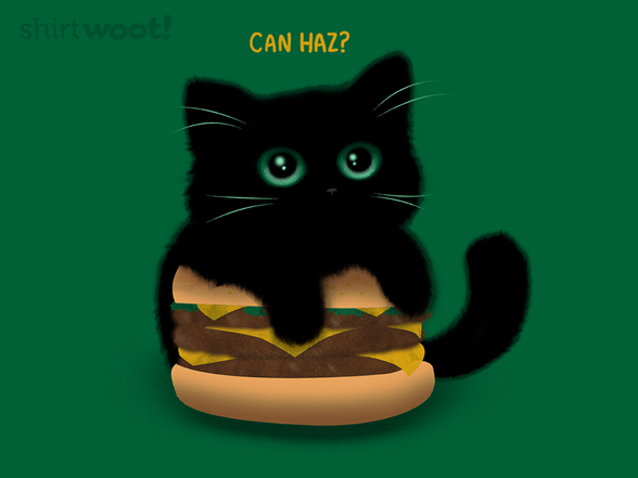 Cheeseburger Cat T Shirt