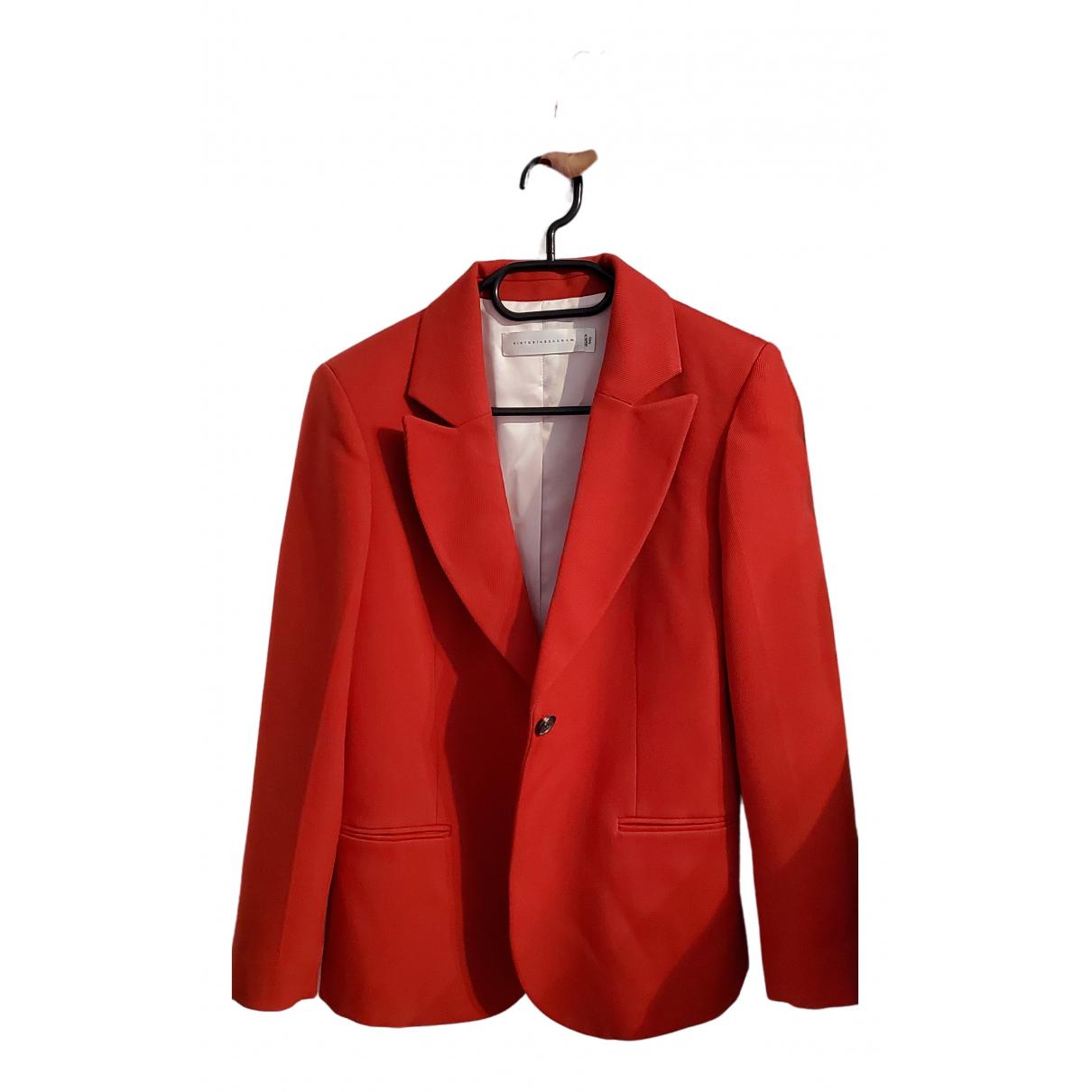 Victoria Beckham N Red Wool jacket for Women 40 IT