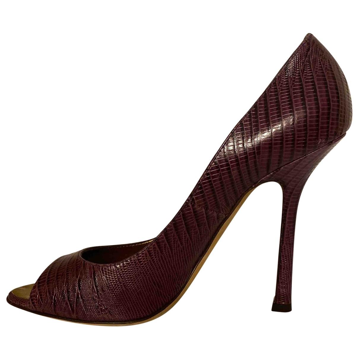 Dsquared2 - Escarpins   pour femme en crocodile - violet