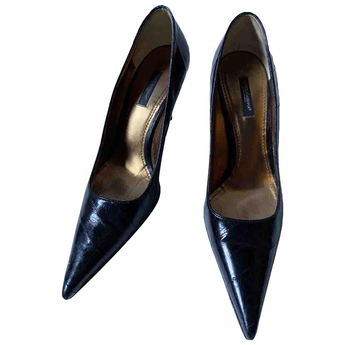 Dolce & Gabbana - Escarpins   pour femme en anguille - noir