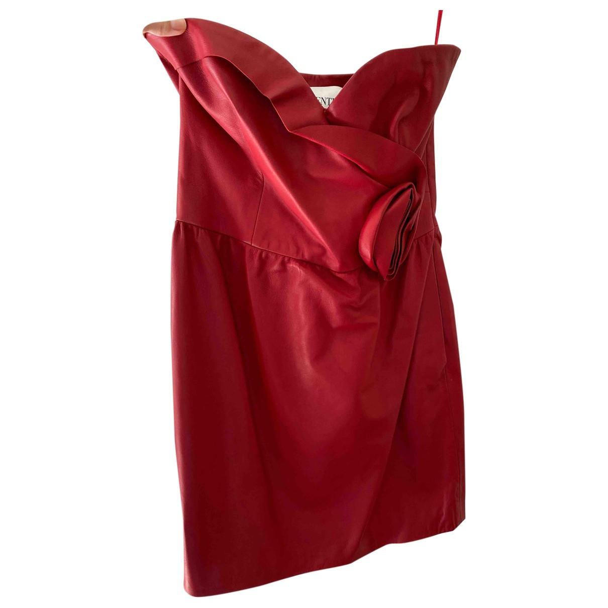 Mini vestido de Cuero Valentino Garavani