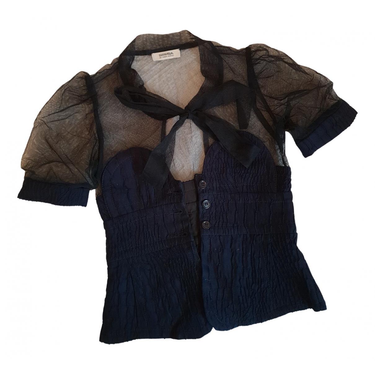 Sonia By Sonia Rykiel - Top   pour femme en coton - marine