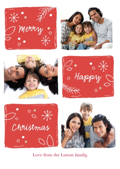 Christmas Photo Cards 5x7 Cards, Premium Cardstock 120lb with Scalloped Corners, Card & Stationery -Tis The Season
