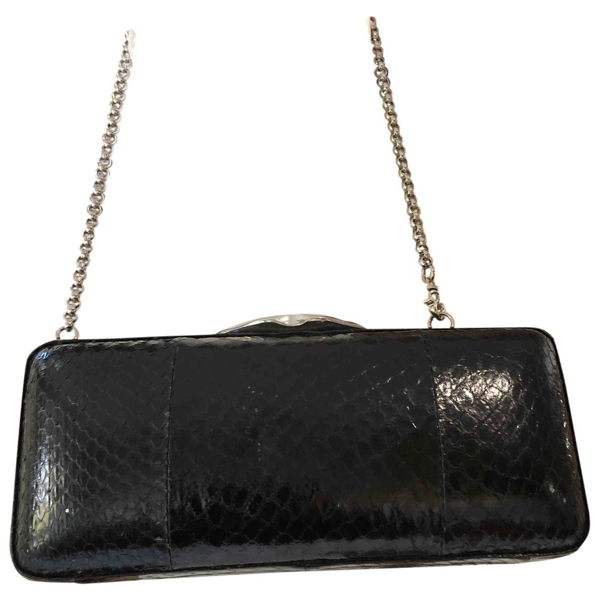 Bolsos clutch en Serpiente de agua Negro Lulu Guinness