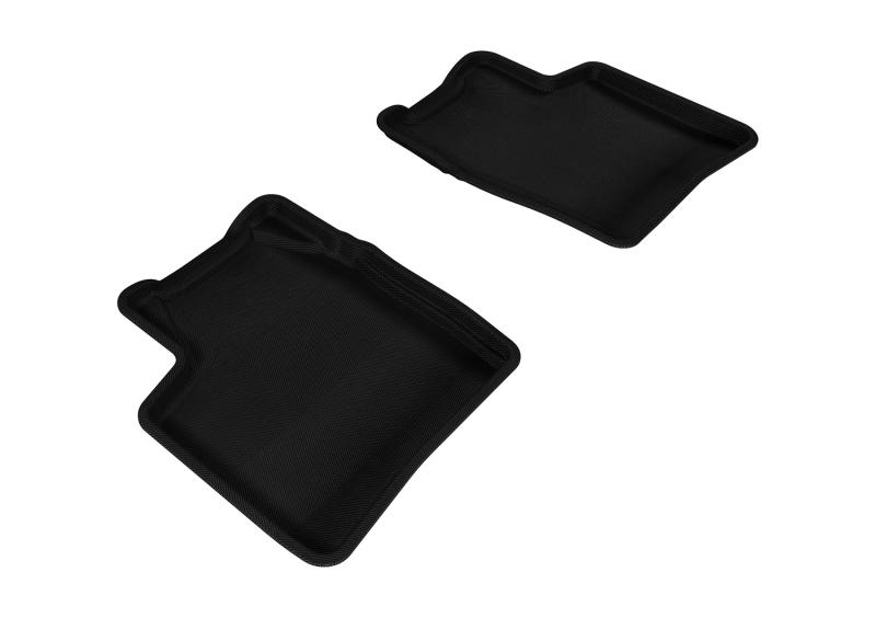 3D MAXpider 2004-2009 Toyota Prius Kagu 2nd Row Floormats - Black