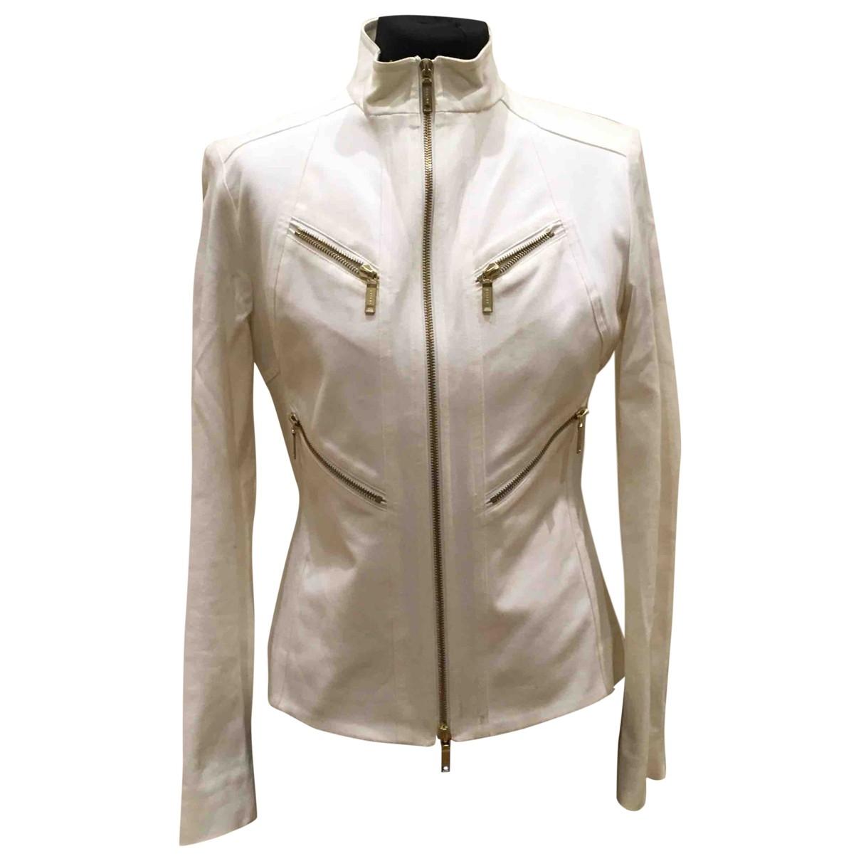 Celine - Veste   pour femme en coton - blanc