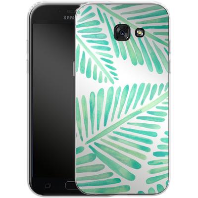 Samsung Galaxy A5 (2017) Silikon Handyhuelle - Banana Leaves Seafoam von Cat Coquillette