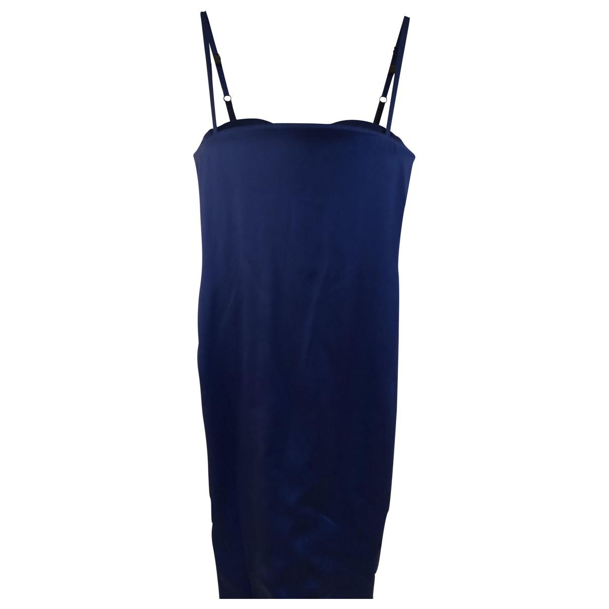 Acne Studios \N Kleid in  Blau Seide