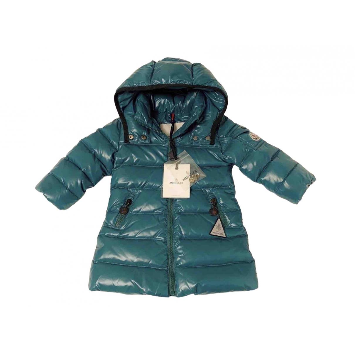 Moncler - Blousons.Manteaux Long pour enfant - vert