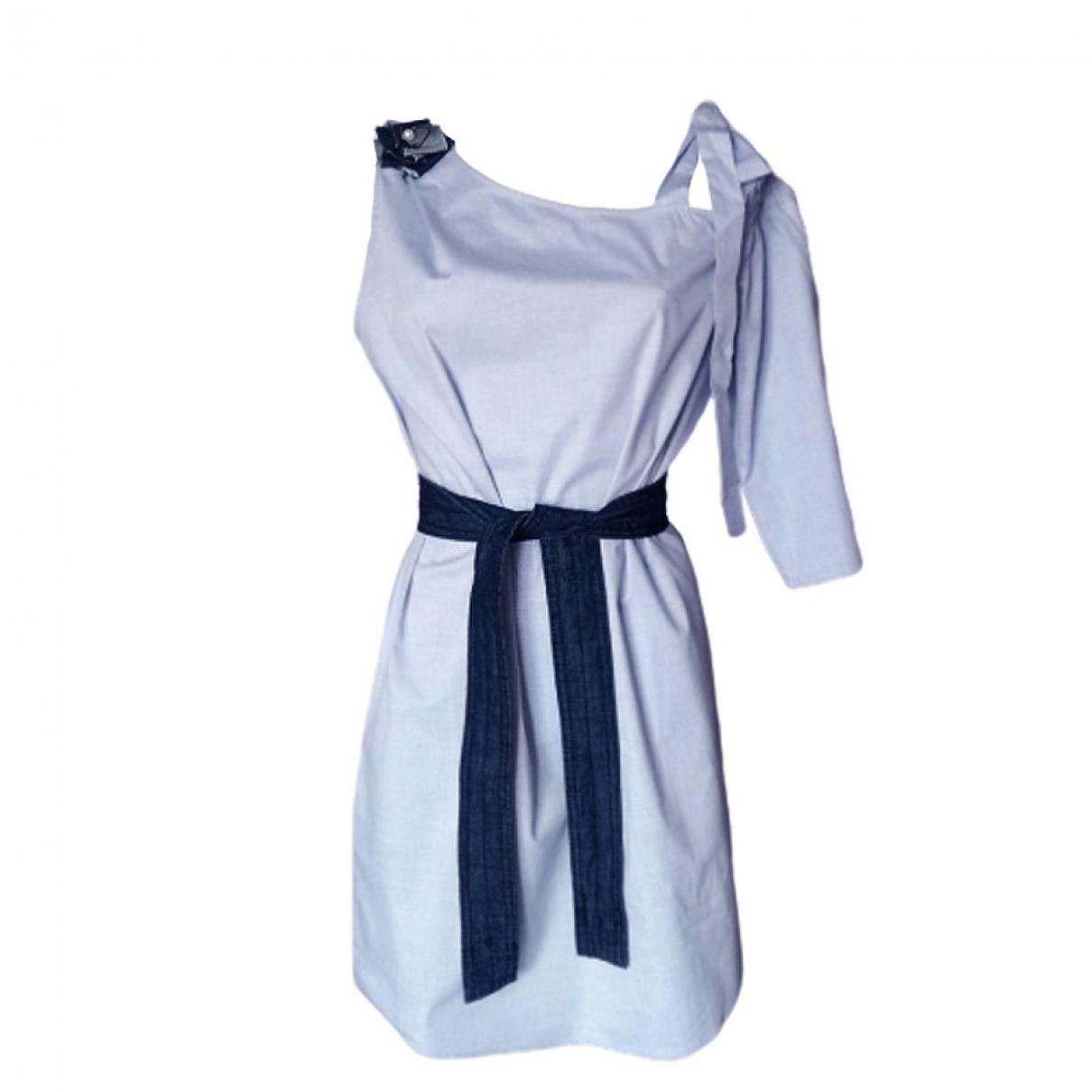 Hoss Intropia - Robe   pour femme en coton - bleu