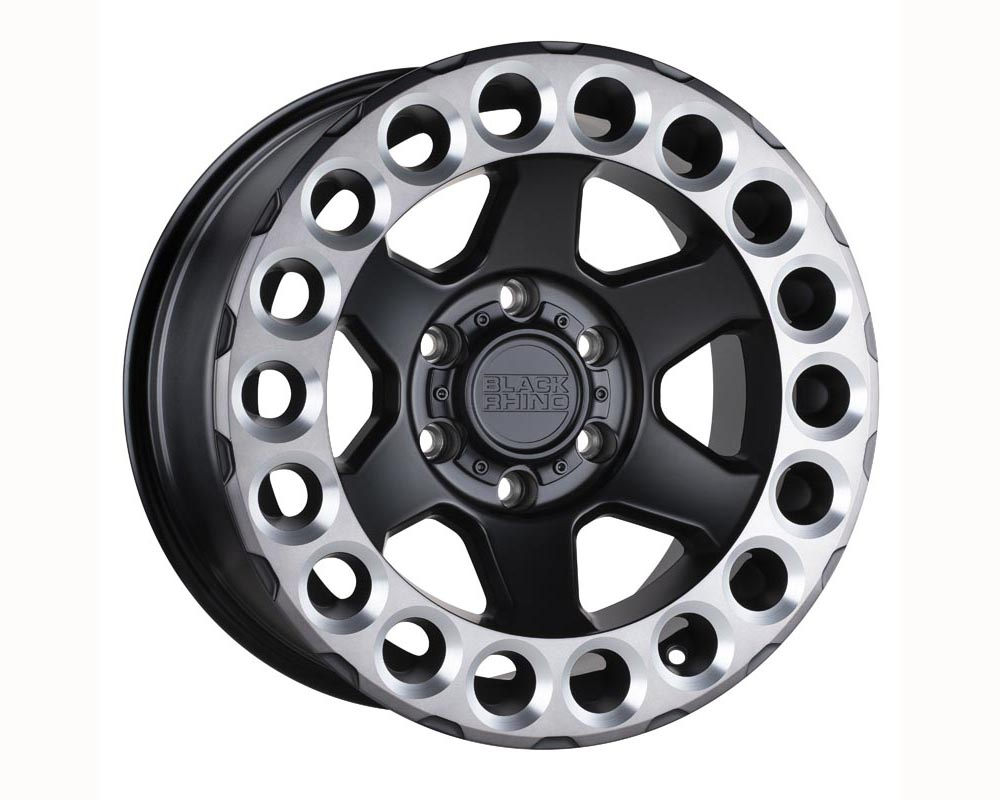 Black Rhino Odessa Wheel 18x9.5 5x127 -18 Matte Black w/Machined Tinted Lip and Milled Rings