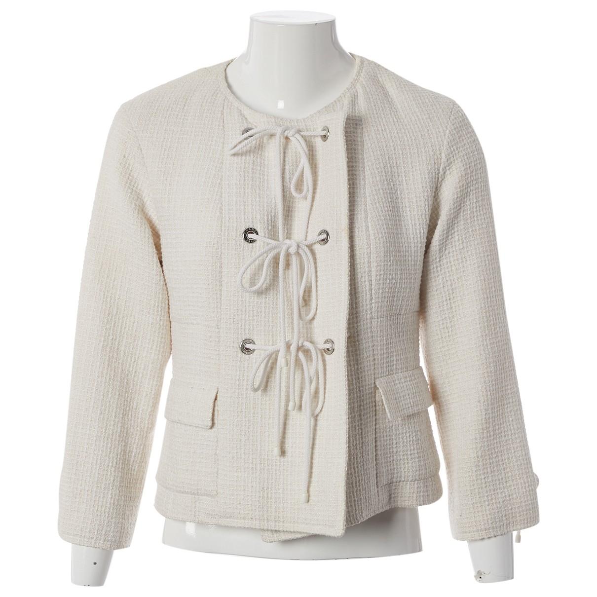 Chanel - Veste   pour femme en coton - ecru