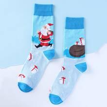 Weihnachten Socken mit Weihnachtsmann Muster