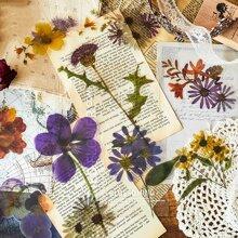 6 Blaetter Zufaelliger Aufkleber mit Blumen Muster