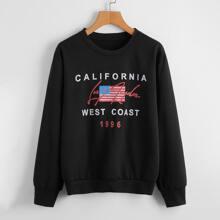 American Flag Graphic Sweatshirt