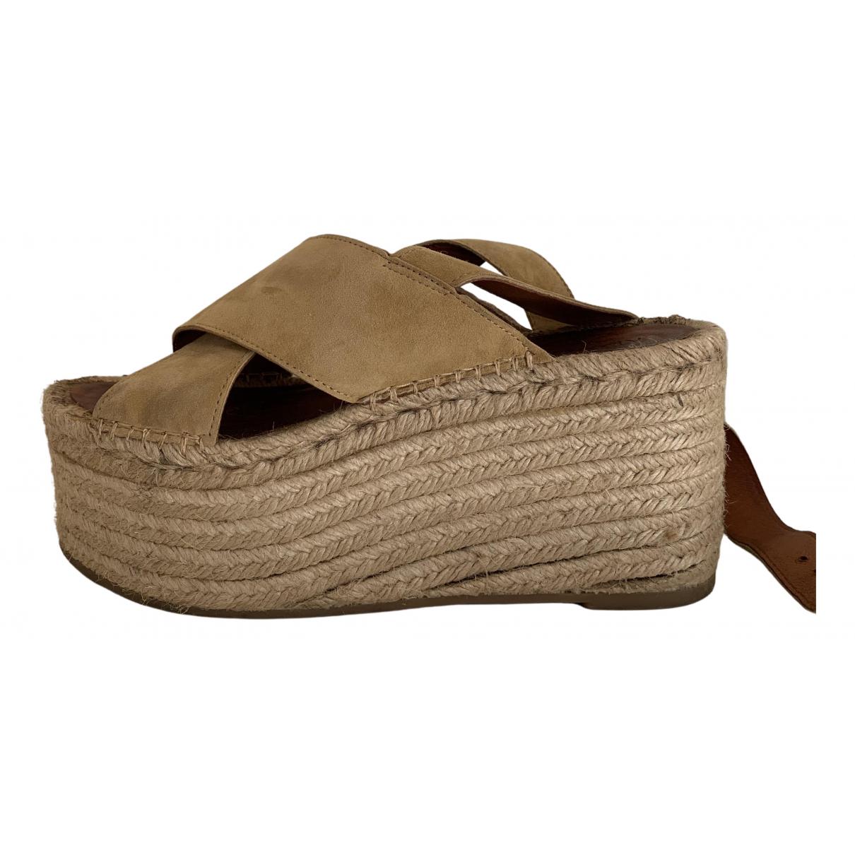 Alohas N Beige Suede Sandals for Women 40 EU