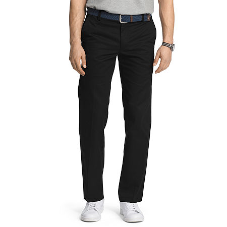 IZOD American Chino Mens Slim Fit, 31 32, Black