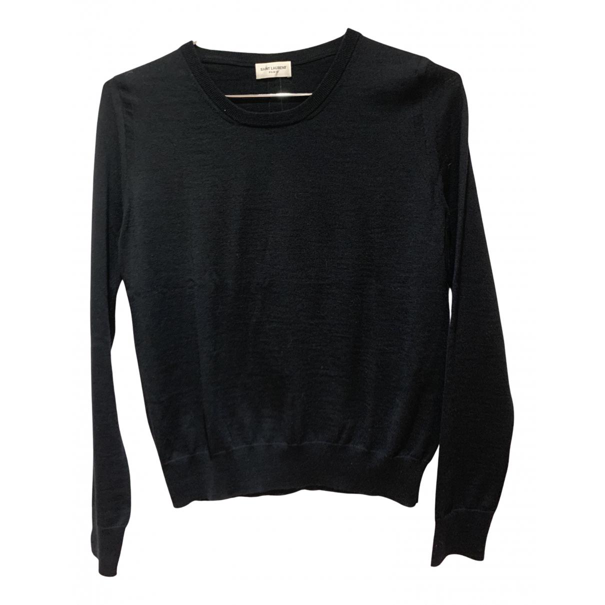 Saint Laurent N Black Wool Knitwear for Women 34 FR