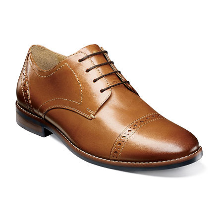 Nunn Bush Mens Fifth Ave Flex Lace-up Oxford Shoes, 10 Medium, Brown