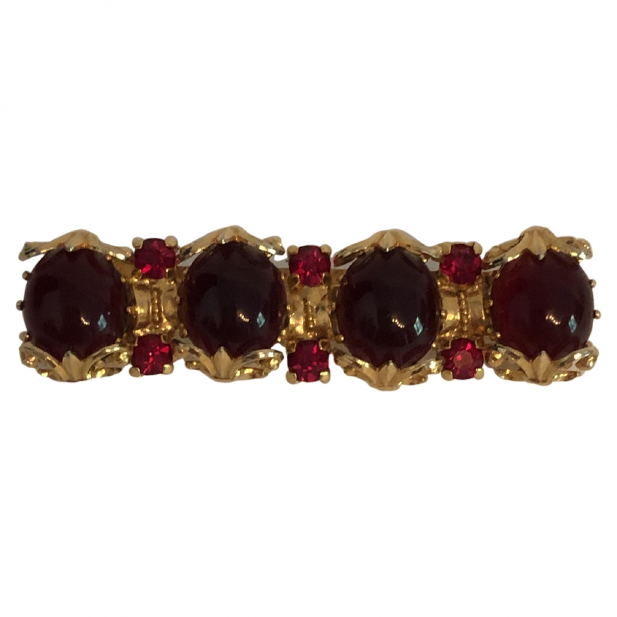 Non Signé / Unsigned Art Déco Burgundy Metal Pins & brooches for Women \N
