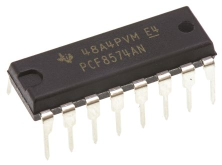 Texas Instruments PCF8574AN, 8-Channel I/O Expander 100kHz, I2C, SMBus, 16-Pin PDIP (25)