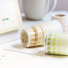 1roll Circle Pattern Random Decorative Tape