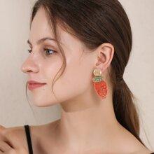 Carrot Design Drop Earrings
