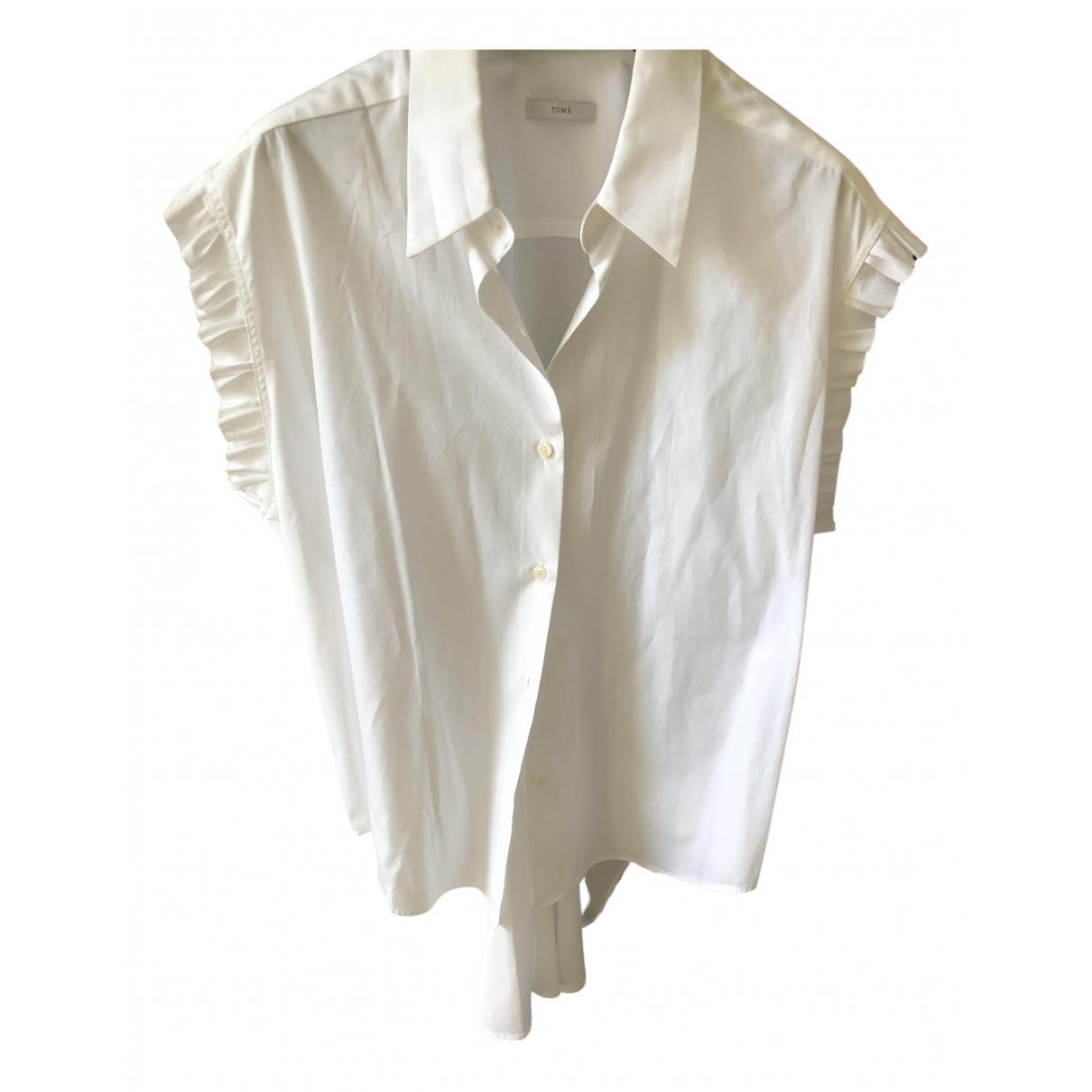 Tome - Top   pour femme en coton - blanc