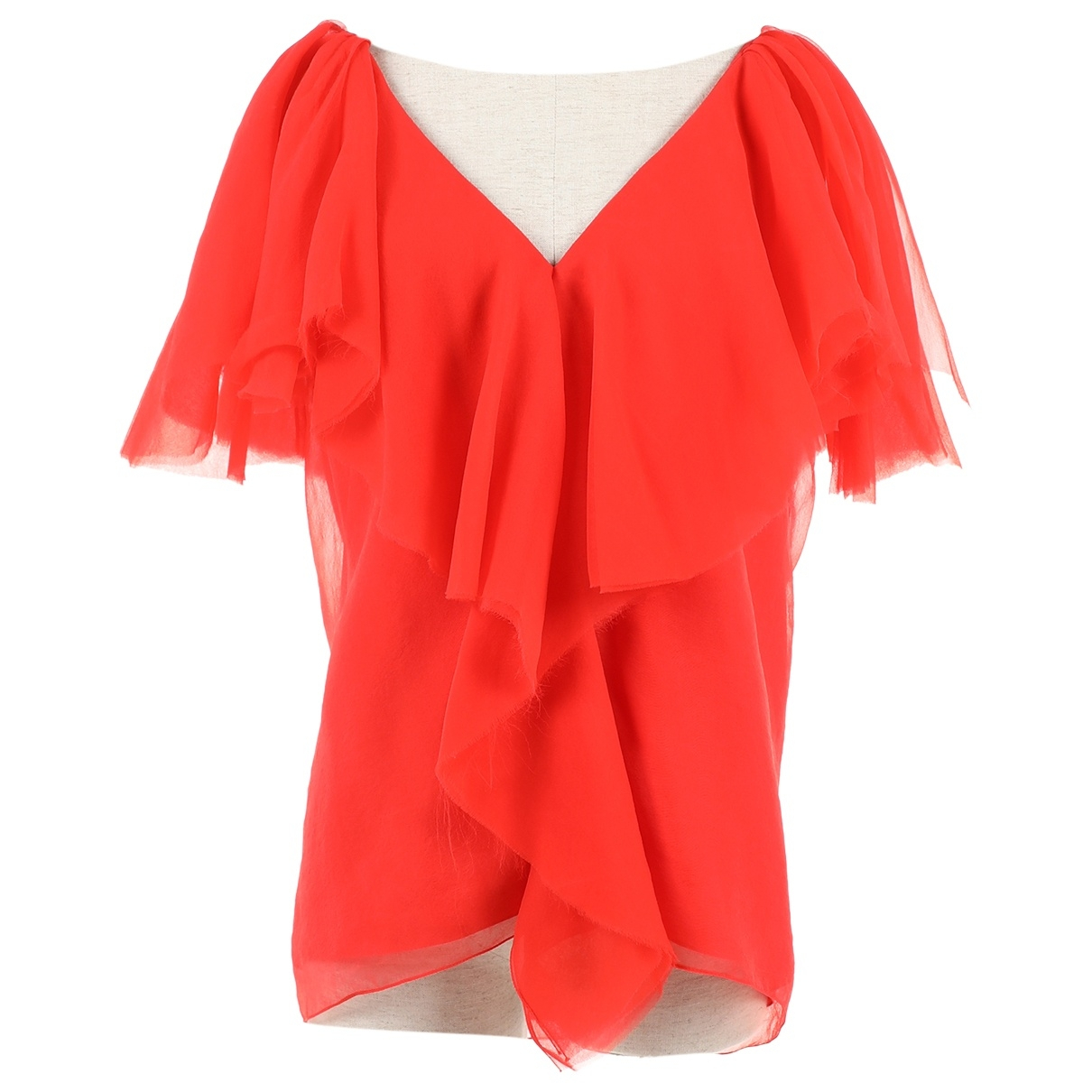 Lanvin \N Red Silk  top for Women 36 FR