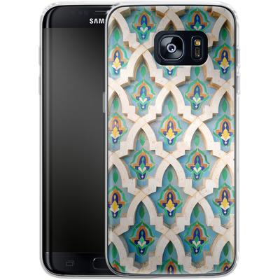 Samsung Galaxy S7 Edge Silikon Handyhuelle - Moroccan Mosaic von Omid Scheybani