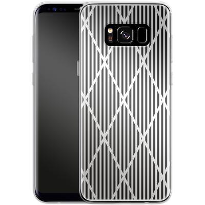 Samsung Galaxy S8 Silikon Handyhuelle - Black Diamonds von caseable Designs