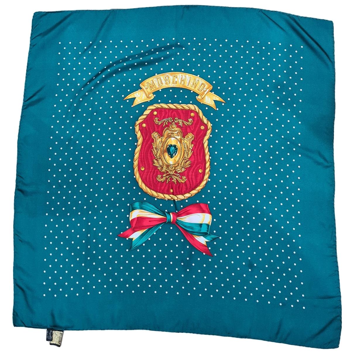 Moschino - Foulard   pour femme en soie - vert