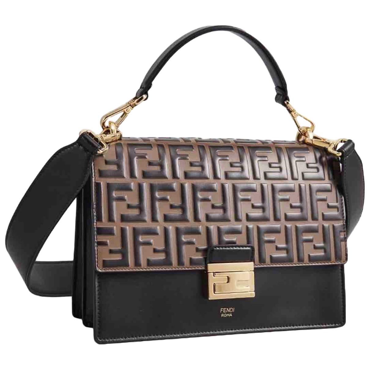 Fendi Kan I Brown Leather handbag for Women \N