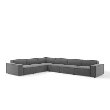 Restore Collection EEI-4119-CHA 6-Piece Sectional Sofa in Charcoal