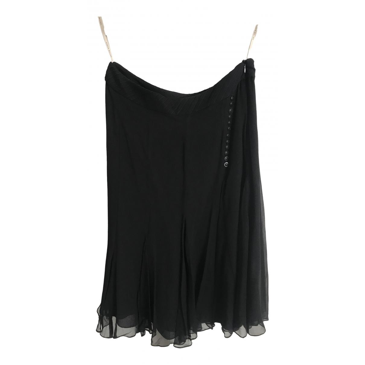 Karen Millen \N Black Silk skirt for Women 10 UK