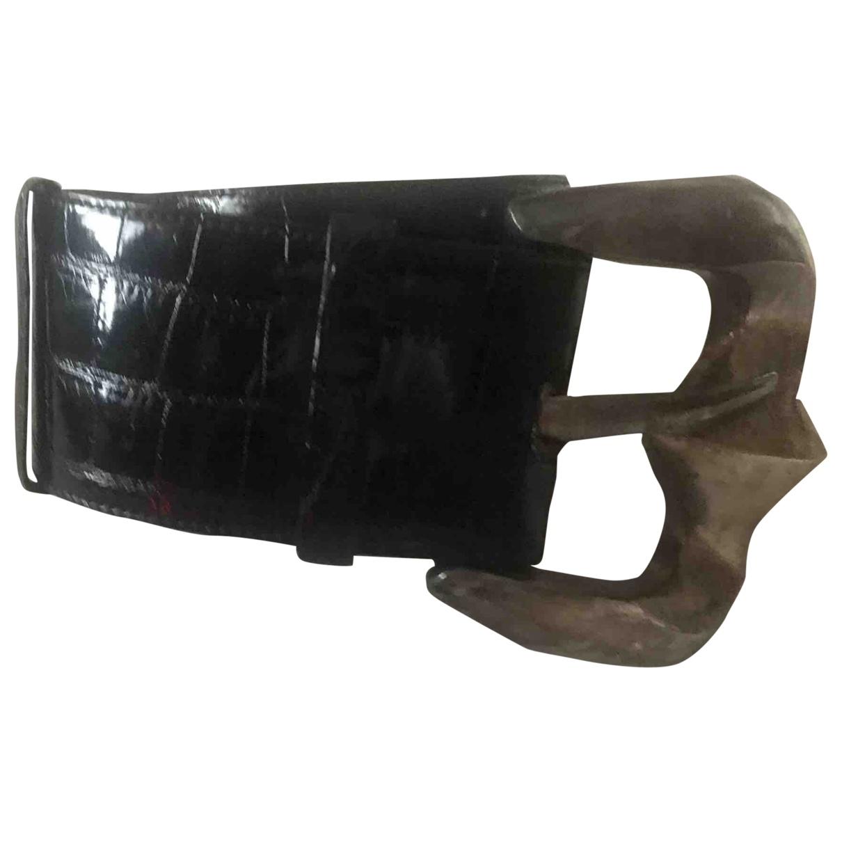 Patricia Von Musulin \N Black Alligator belt for Women 85 cm