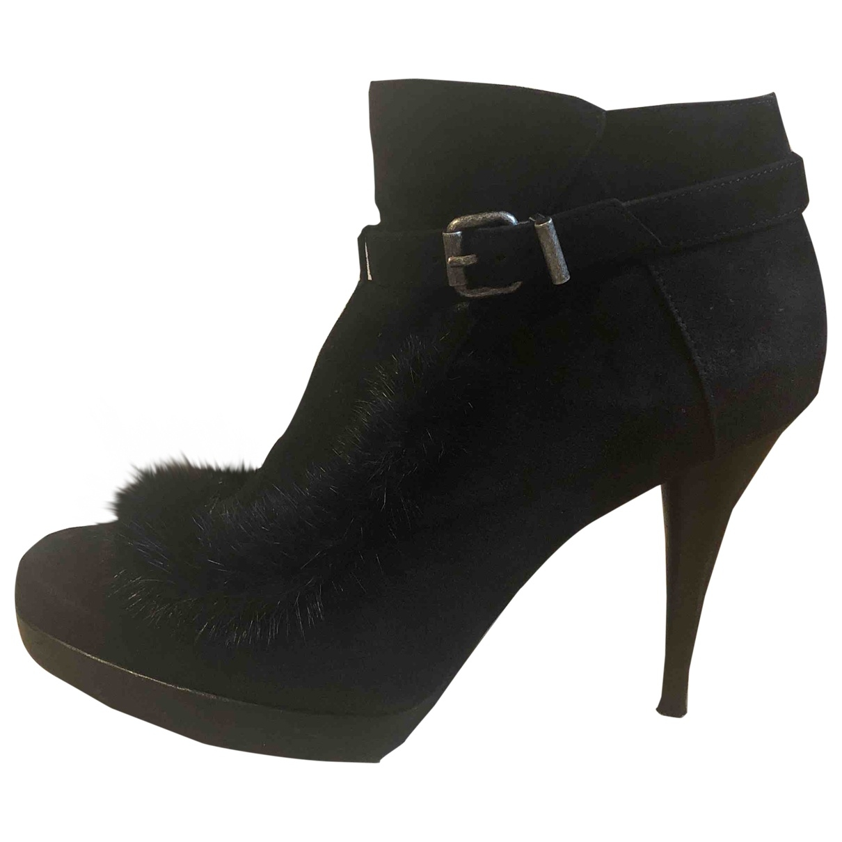Fendi \N Black Suede Ankle boots for Women 41 EU
