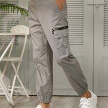 Men Flap Pocket Cargo Pants