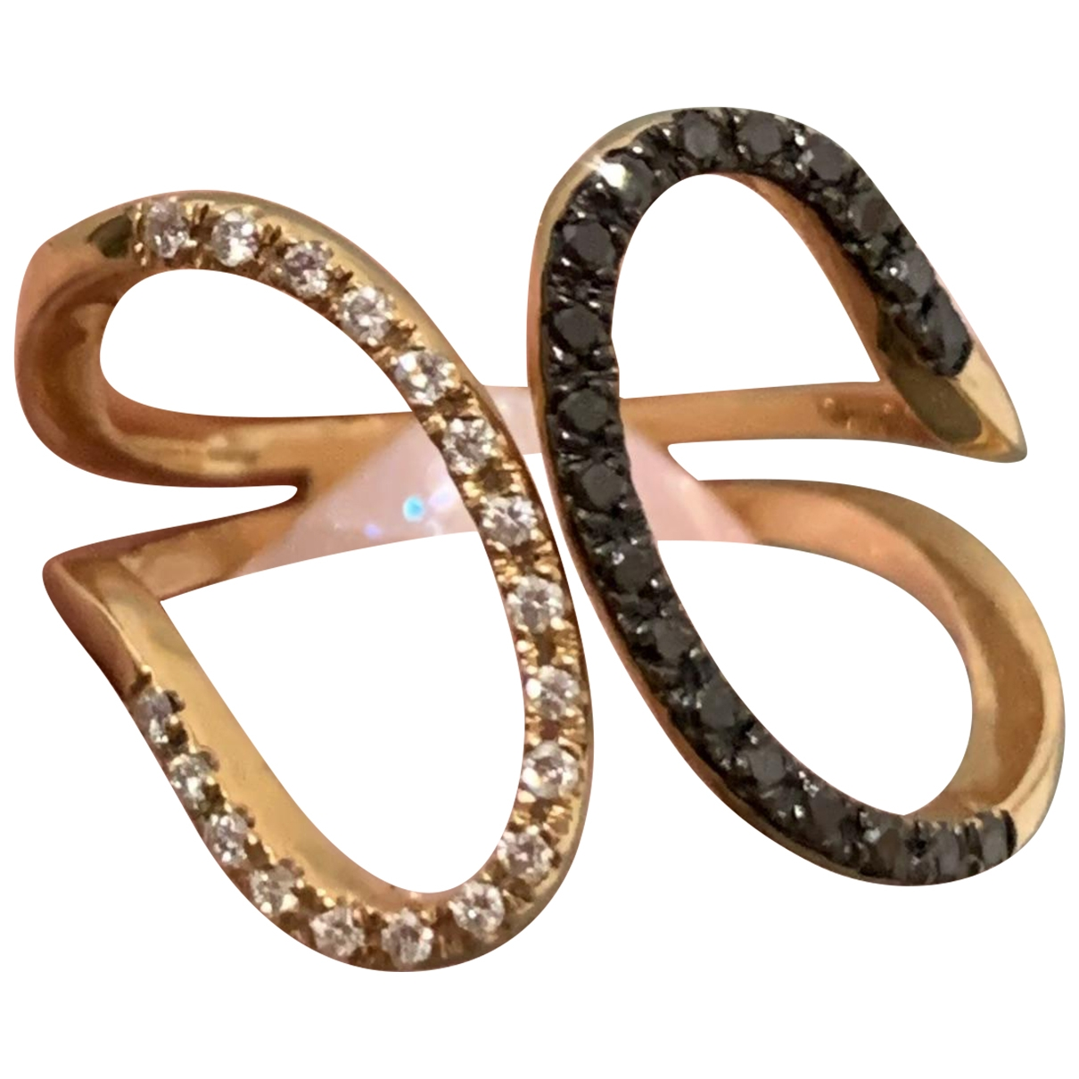 Non Signe / Unsigned \N Ring in  Rosa Rosegold
