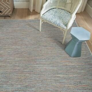 Grande Terre Indoor/Outdoor Ombre Flatweave Polypropylene Area Rug (Light Blue - 7'0 x 11'0)