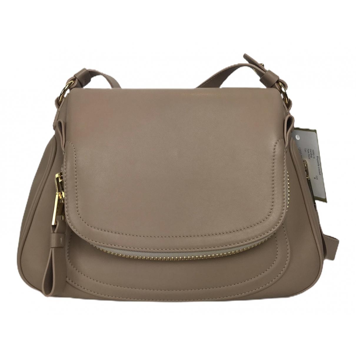 Tom Ford Jennifer Beige Leather handbag for Women \N