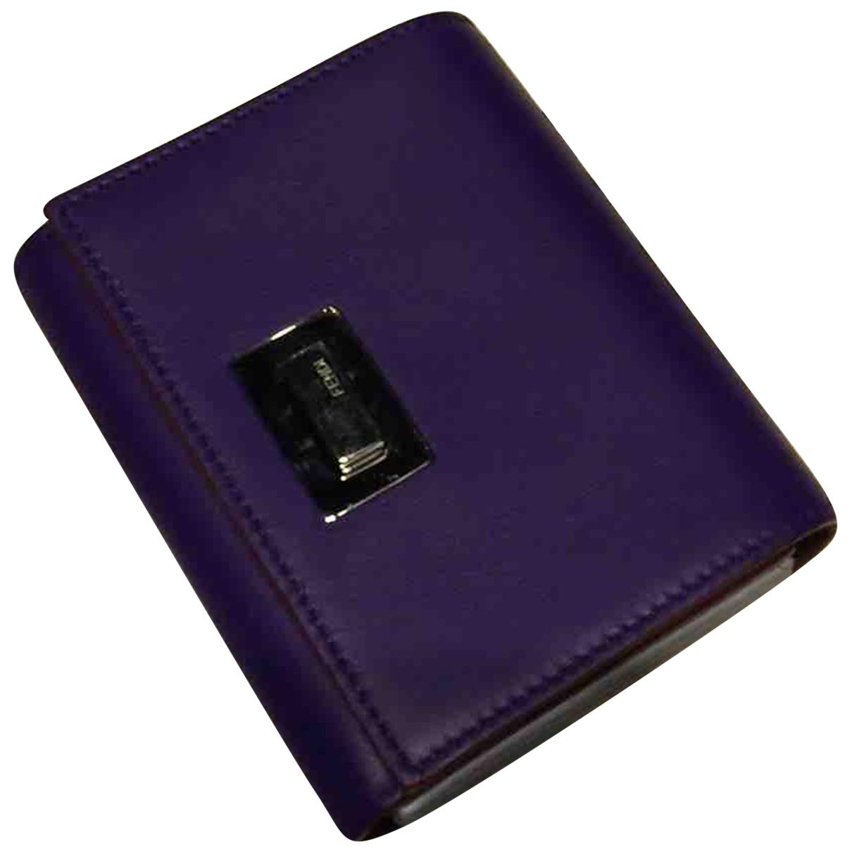 Fendi - Petite maroquinerie   pour femme en cuir - violet