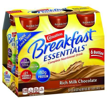 Carnation Breakfast Essentials Complete Nutritional Drink Rich Milk Chocolate - 8.0 oz x 6 pack